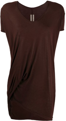Rick Owens draped long-line T-shirt