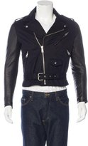 Sandro Leather-Trimmed Moto Jacket