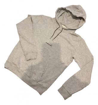 Saint Laurent Grey Cotton Knitwear
