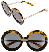 Karen Walker Women's 'Hollywood Pool - Arrowed By Karen' 53Mm Sunglasses - Crazy Tort/ Black/ Gold