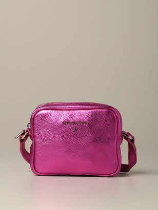 Patrizia Pepe Mini Brick Bag In Metallic Leather