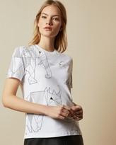 Ted Baker Cotton Endangered Animals T-shirt