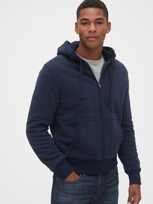 Gap Vintage Soft Sherpa-Lined Full-Zip Hoodie