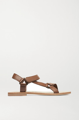 ST. AGNI Sportsu Leather Sandals - Tan