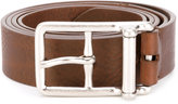 Maison Margiela silver buckle belt - men - Leather - 95