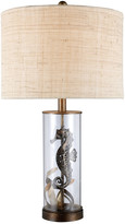 clear Artistic Home & Lighting 26In Largo Glass Seahorse Led Table Lamp