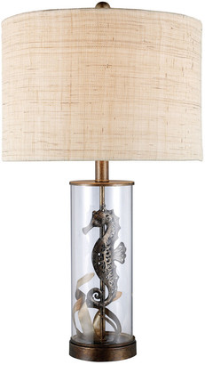 Artistic Home & Lighting 26In Largo Clear Glass Seahorse Led Table Lamp