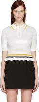 3.1 Phillip Lim White Knit Polo