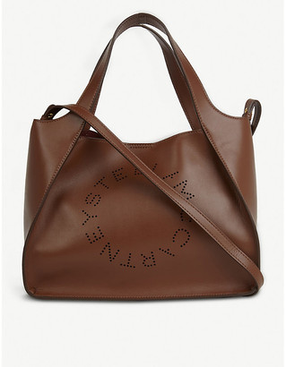 Stella McCartney Perforated vegan-leather tote bag
