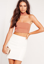Missguided Choker Plunge Bralet Nude