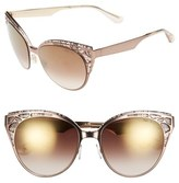 Jimmy Choo Women's 'Estelle' Metal Cat Eye Crystal Lace 55Mm Sunglasses - Shiny Light Brown