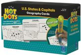 Educational Insights Hot Dots Geography Cards - U.S. States & Capitals