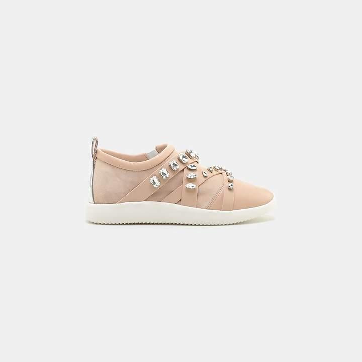 Giuseppe Zanotti Christie Swarovski Crystal Side-Zip Sneaker