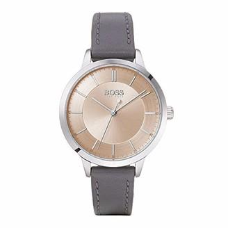 HUGO BOSS Women's Analogue Quartz Watch with Leather-Calfskin Strap 1502510