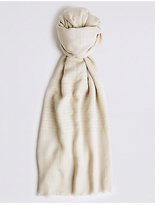 M&S Collection Shimmer Stripe Scarf