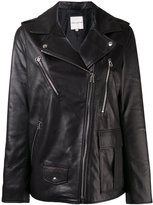 Each X Other oversized leather jacket - women - Lamb Skin/Acetate - XS