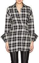 Helmut Lang Women's Plaid Safety Pin-Detail Shirt