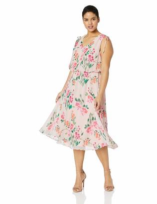 Jessica Howard JessicaHoward Size Womens Sleeveless Blouson Dress
