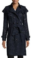 Burberry Stanhill Lace Trench Coat, Navy