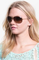'Bubble Wrap Aviator' 63mm Sunglasses