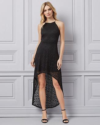 Le Château Lace Halter Neck High-Low Dress