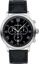 Montblanc 117047 Tradition stainless steel and alligator leather watch
