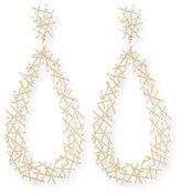 Suzanne Kalan Baguette Diamond Stick Drop Earrings