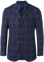 Barba checked blazer - men - Silk/Linen/Flax/Wool - 48