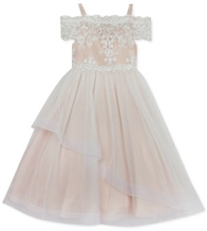 Rare Editions Little Girls Off-The-Shoulder Lace Dress