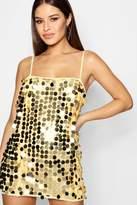 boohoo Petite Tina Sequin Neck Slip Dress