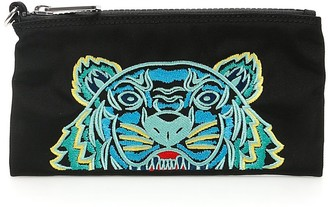 Kenzo Tiger Embroidered Zipped Wallet