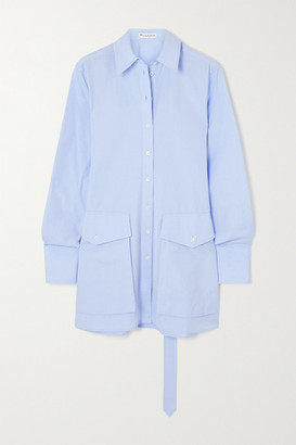 J.W.Anderson Cotton-poplin Tunic - Light blue