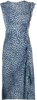 Ermanno Scervino ruched detail leopard print dress