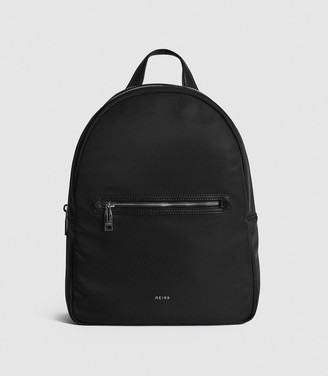Reiss Ethan - Nylon Backpack in Black