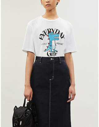 Sjyp Everyday slogan cotton-jersey T-shirt