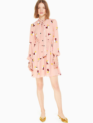 Kate Spade Dusk Buds Print Mix Dress