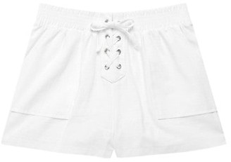 Design History Girl's Lace-Up Front Shorts