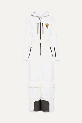 Fendi Karlito Embellished Ski Suit - White