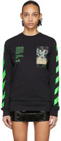 Off-White Off White Black Pascal Painting Long Sleeve T-Shirt