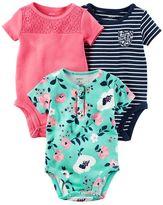 Carter's Baby Girl 3-pk. Floral Bodysuits