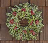 Live Eucalyptus & Red Berry Wreath