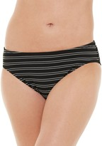 Chaps Women's Textured Stripe Hipster Swim Bottoms