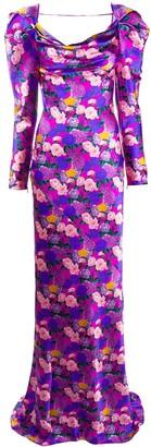 Giuseppe di Morabito Floral Fitted Maxi Dress