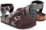 Muk Luks Women's Sandals Brown/Teal - Brown & Teal Paisley Romi Suede Gladiator Sandal - Women