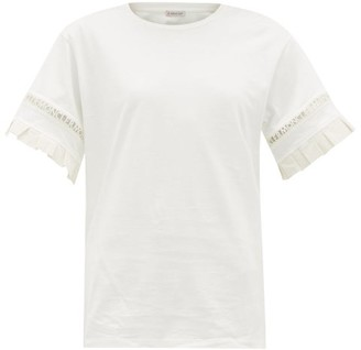 Moncler Logo-trimmed Cotton-jersey T-shirt - Womens - White