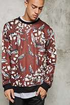 Forever 21 FOREVER 21+ Foliage Print Sweatshirt
