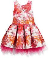 Zoë Ltd Sleeveless Pleated Floral Brocade Dress, Pink, Size 7-16