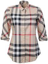 Burberry Beige New Classic Check Cotton Shirt