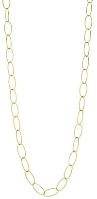 Alberto Milani Via Brera 18K Yellow Gold Open Oval Chain Link Long Necklace