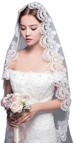 Aurora Bridal® Women's Long Lace Wedding Bridal Veils without Comb